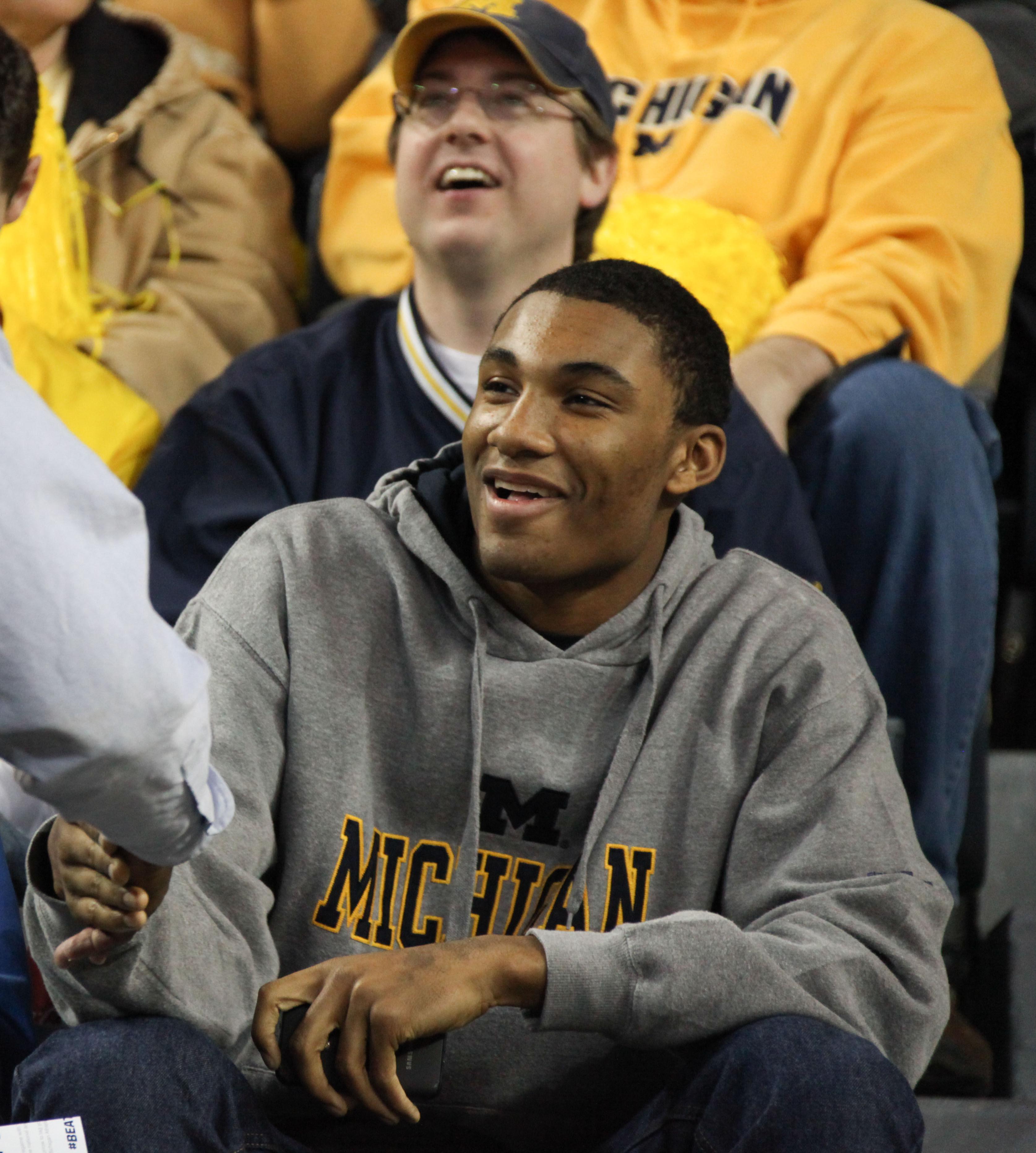 Zak Irvin at Michigan-OSU Game