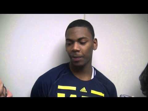 Video: Glenn Robinson III, Mitch McGary, Tim Hardaway Jr. and Nik Stauskas react to Purdue victory