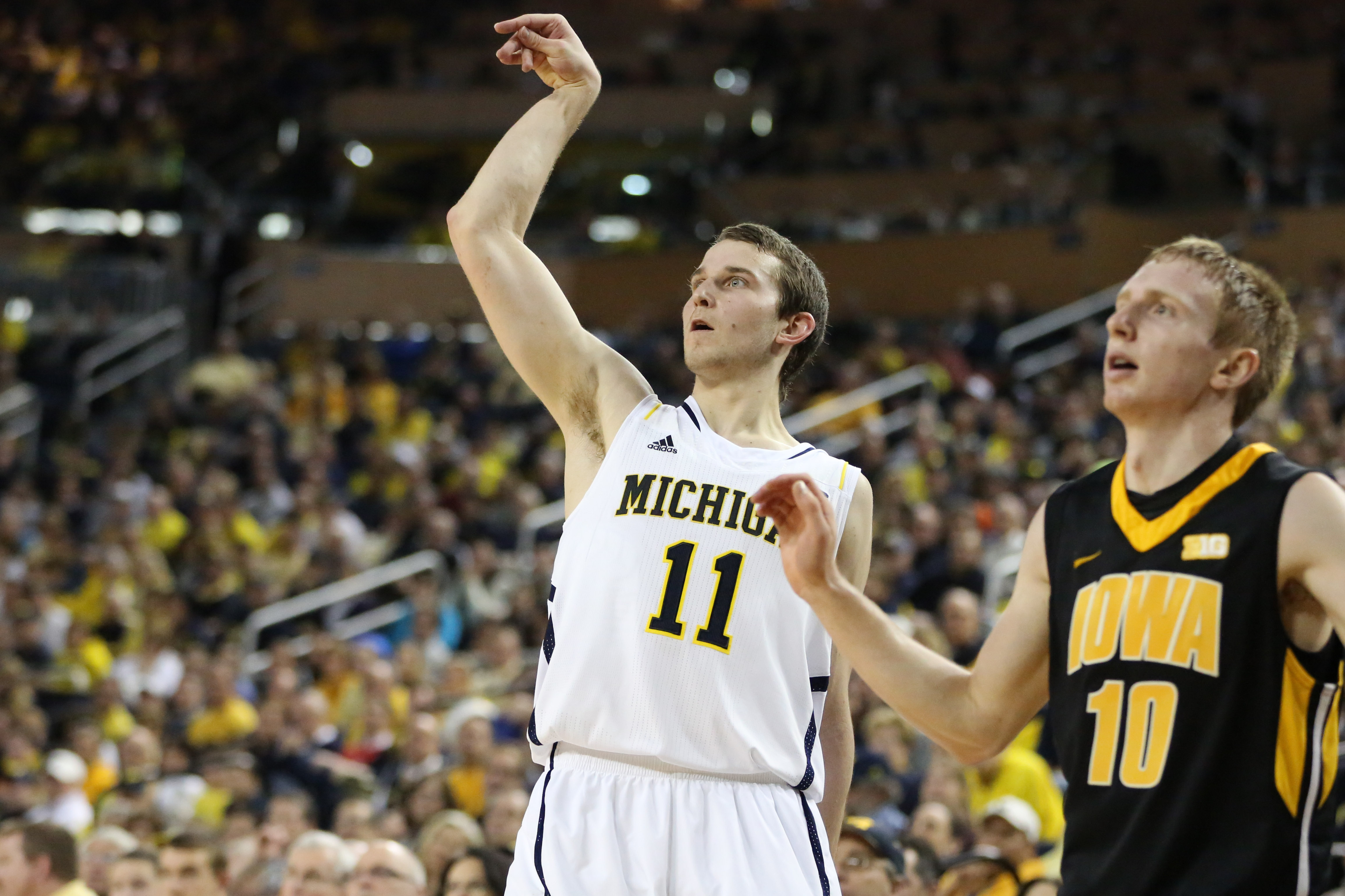 Michigan 95, Iowa 67 – #25