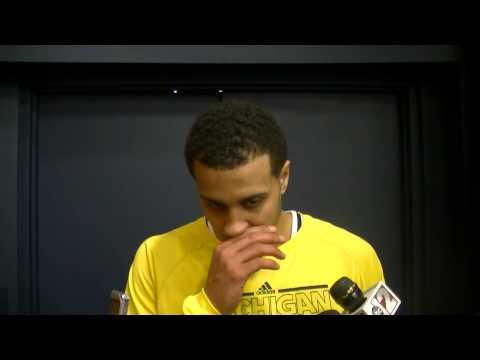 Video: Jordan Morgan, Trey Burke and Caris LeVert react to win over Illinois