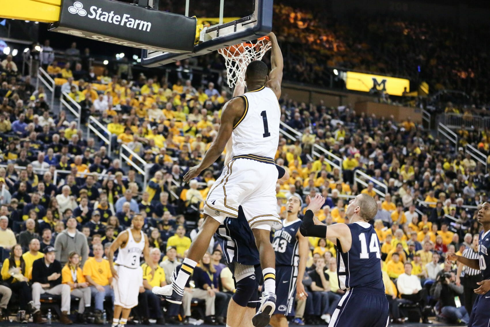 Michigan 79, Penn St. 71-10