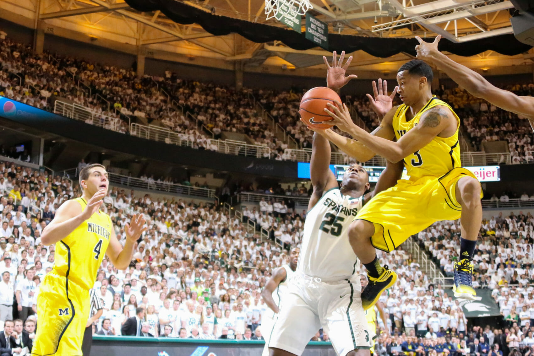 Michigan State 75, Michigan 52-5