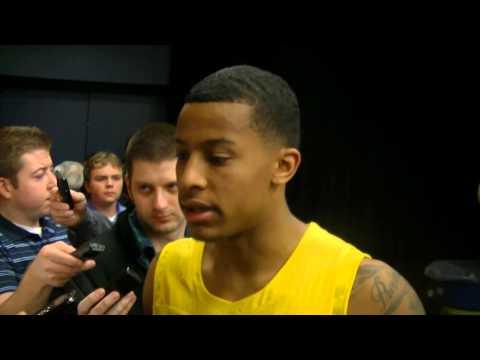 Video: Trey Burke, Tim Hardaway Jr. and Mitch McGary discuss win over Ohio State
