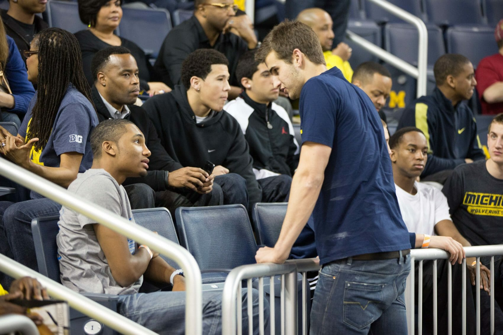 Zak Irvin and Austin Hatch at Michigan-Indiana
