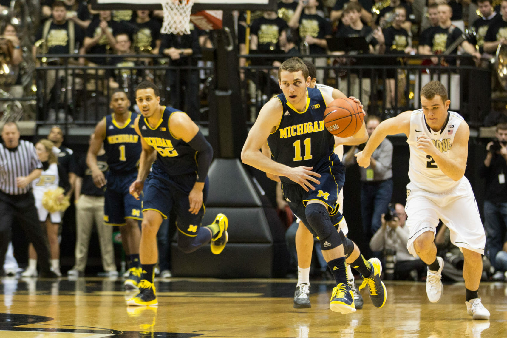 Michigan 80, Purdue 75-1