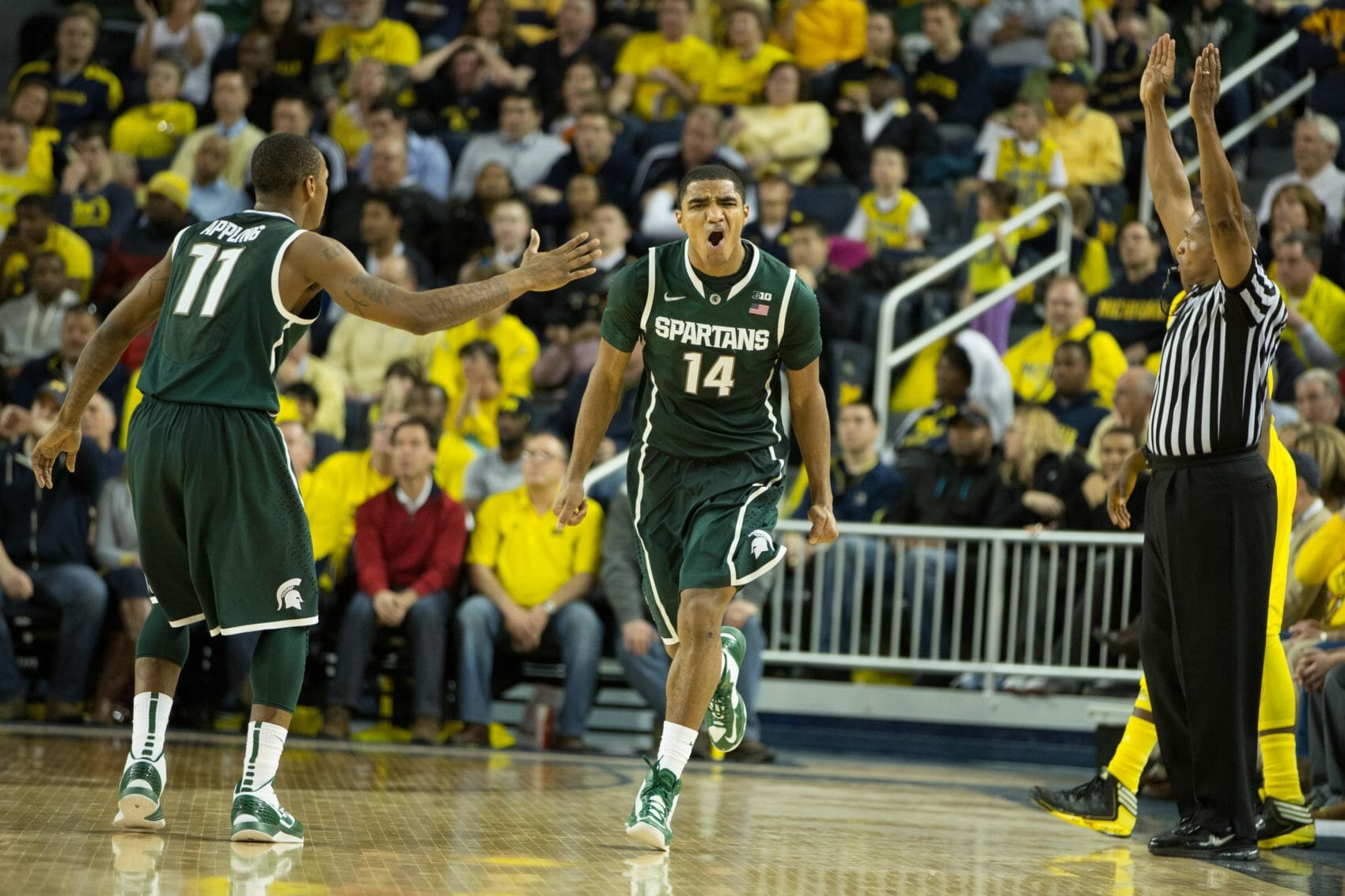 Michigan 58, Michigan State 57-25
