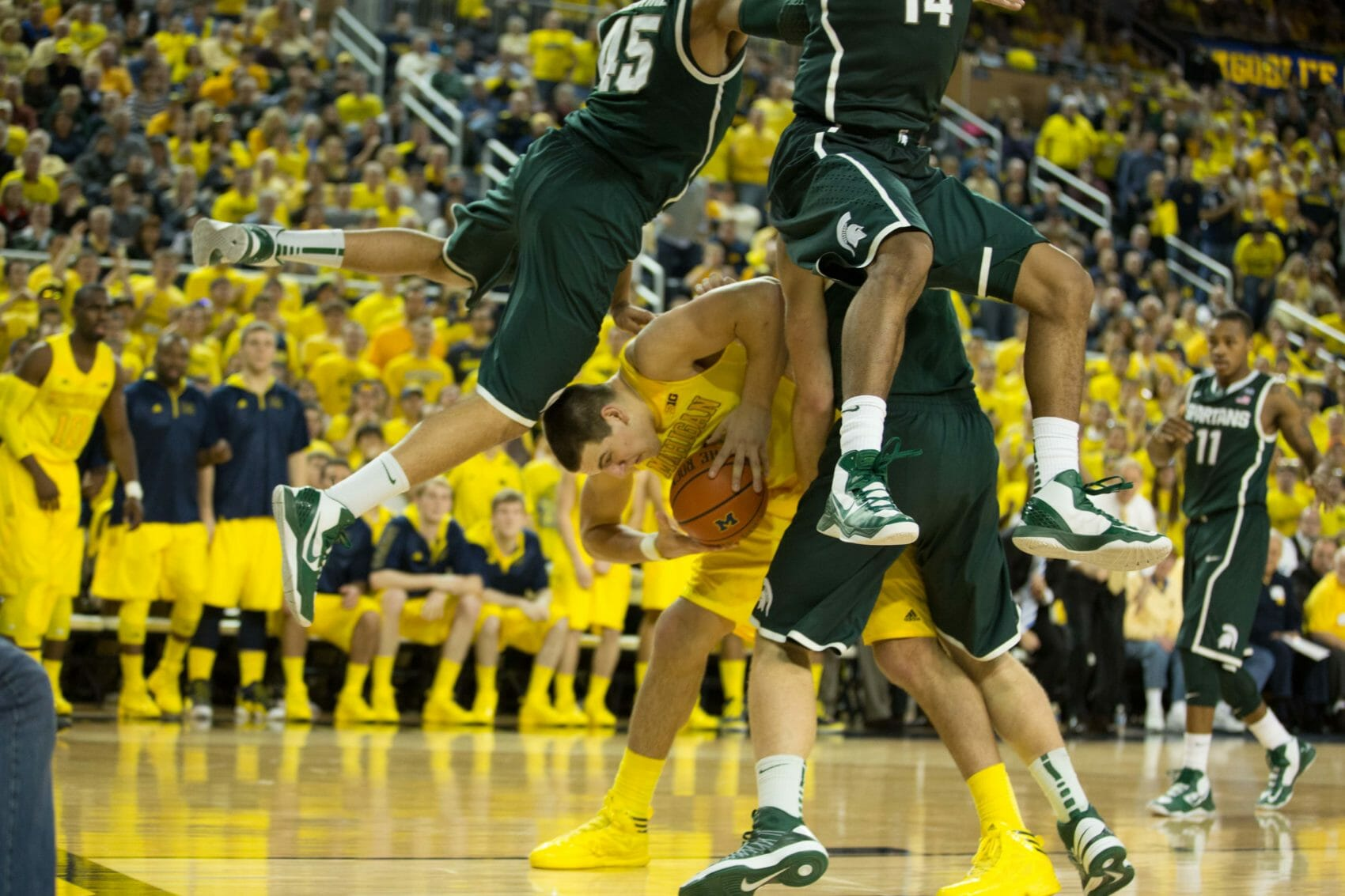 Michigan 58, Michigan State 57-23