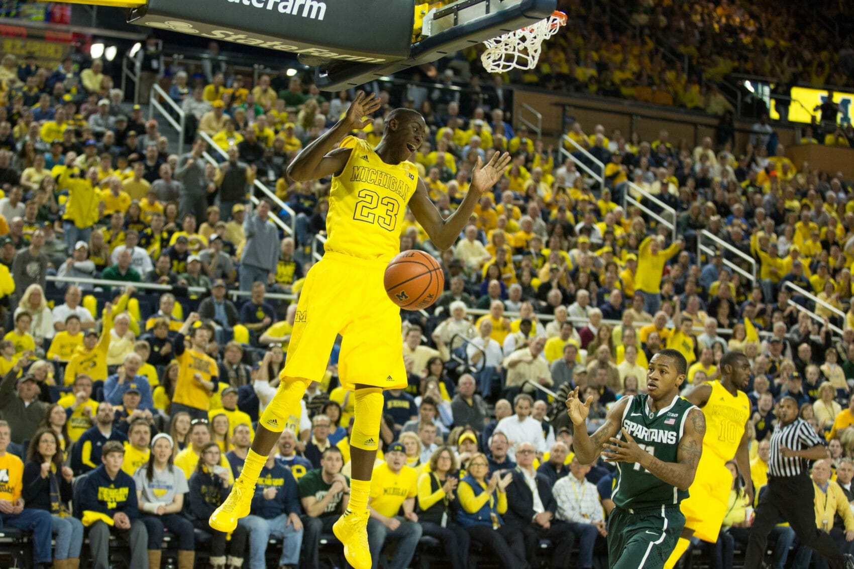 Michigan 58, Michigan State 57-4