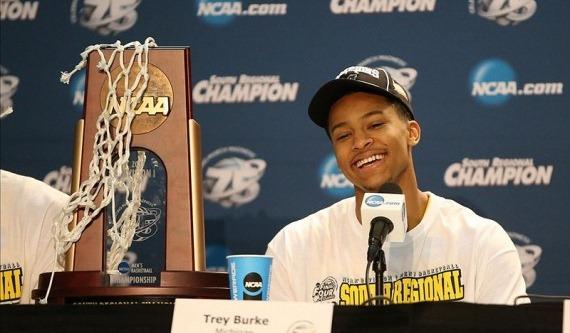 Burke celebrates a regional championship