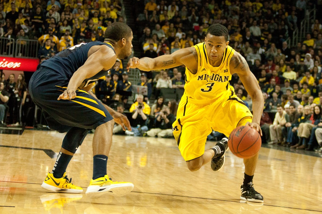 Burke plays a nearly flawless game against West Virginia in the Barclays Center