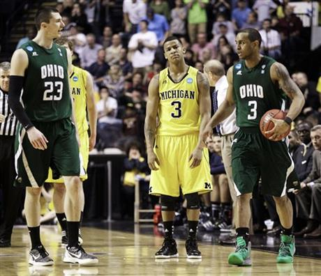 Burke, Michigan fall to Ohio in the opening round of the NCAA tournamentt