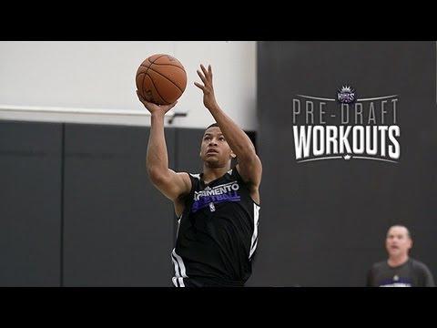 Trey Burke works out for Sacramento Kings