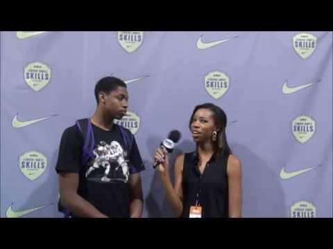 Kameron Chatman, Jalen Brunson talk recruiting at LeBron James Skills Academy