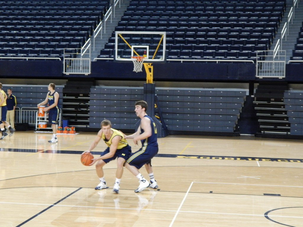 Spike Albrecht at Media Day Practice