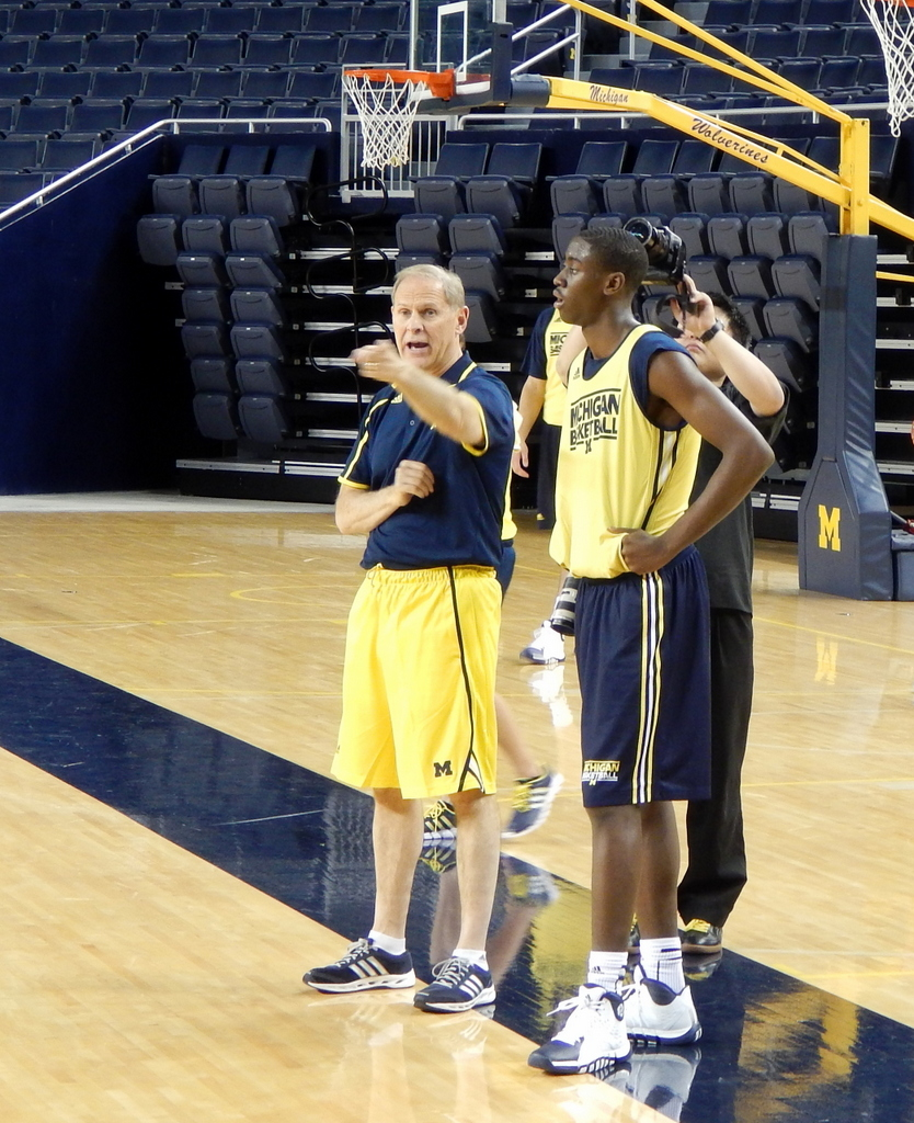 John Beilein and Caris LeVert at Media Day
