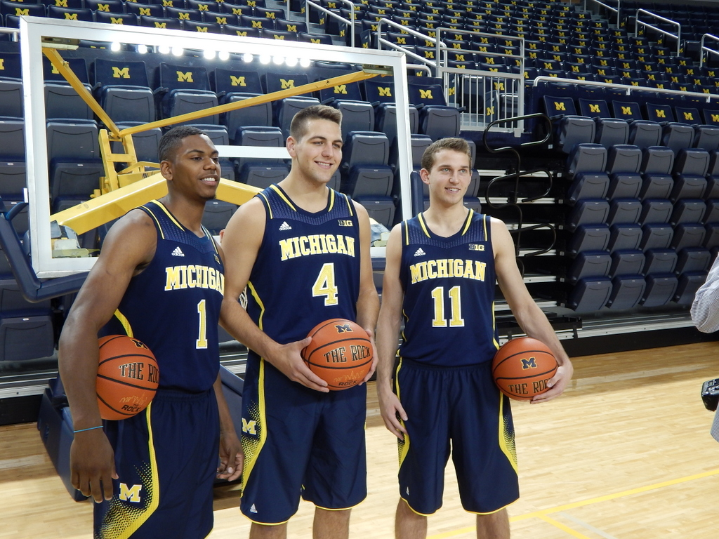Robinson, McGary and Stauskas at Media Day
