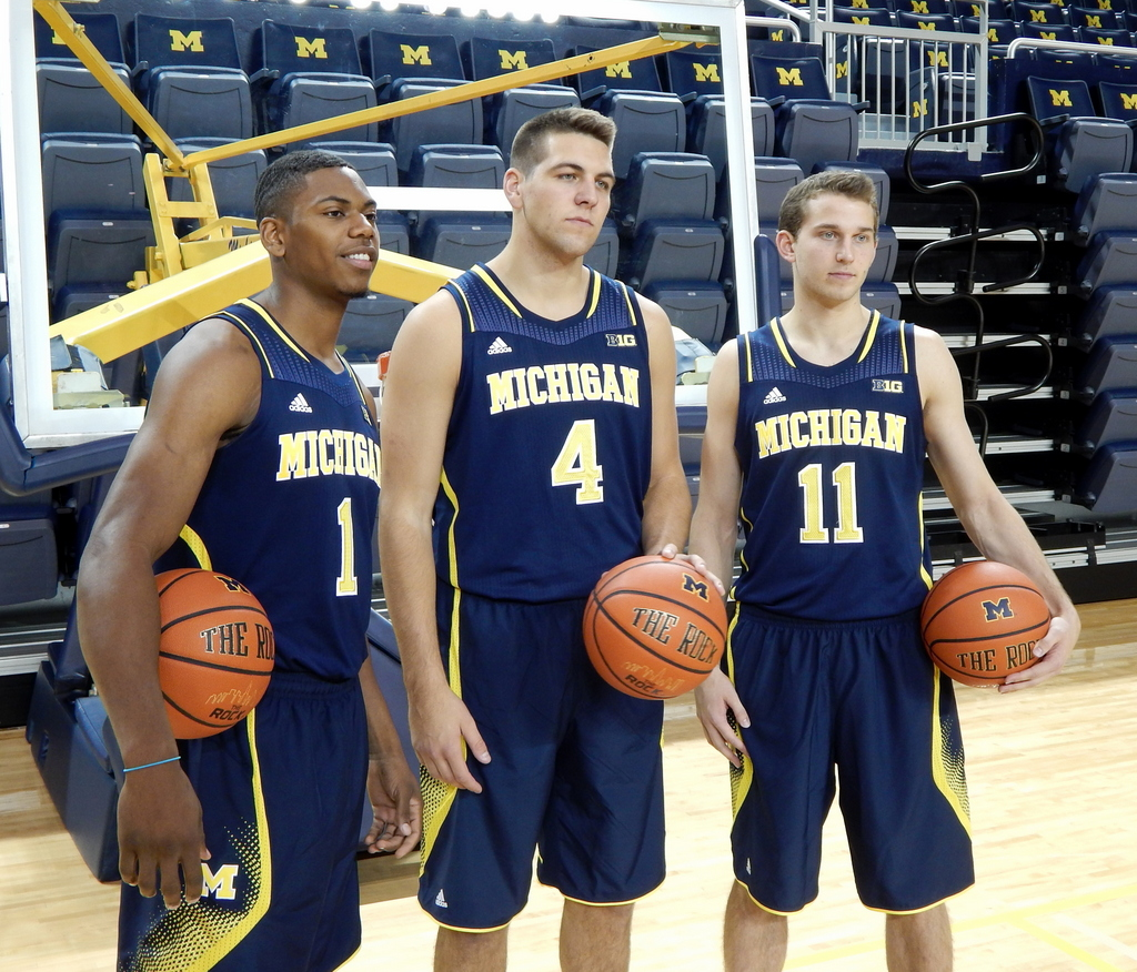 Robinson, McGary and Stauskas at Media Day (2)