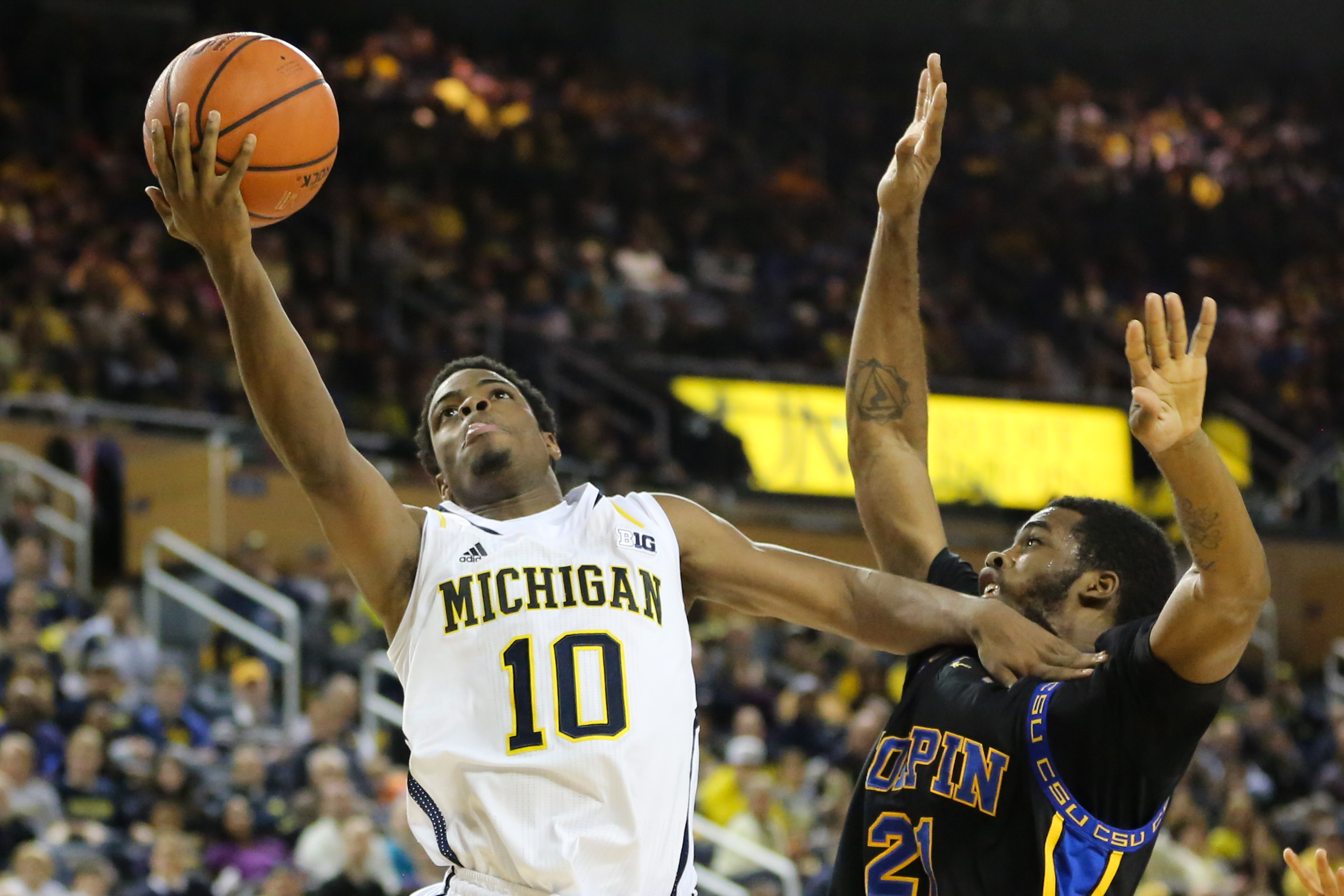 Michigan 87, Coppin State 45-23