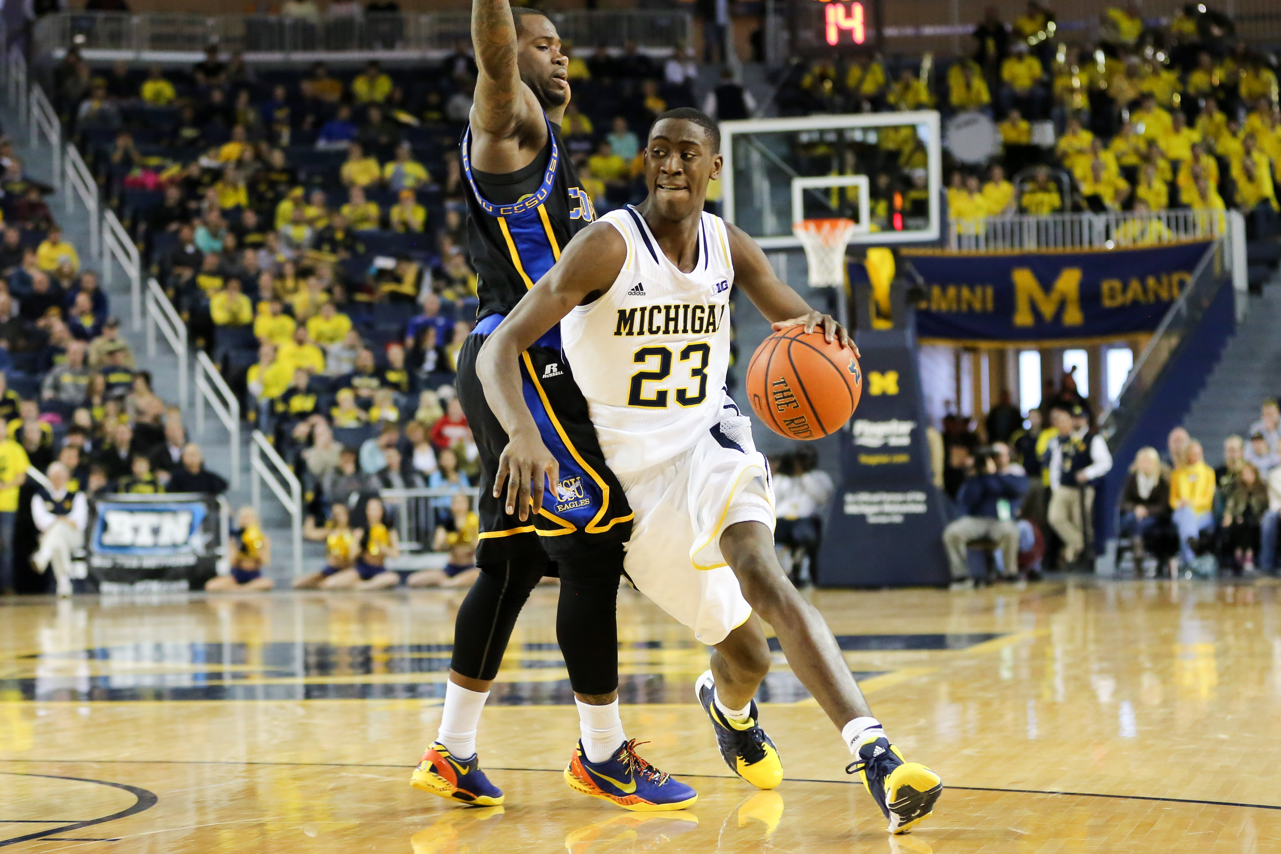 Michigan 87, Coppin State 45-12