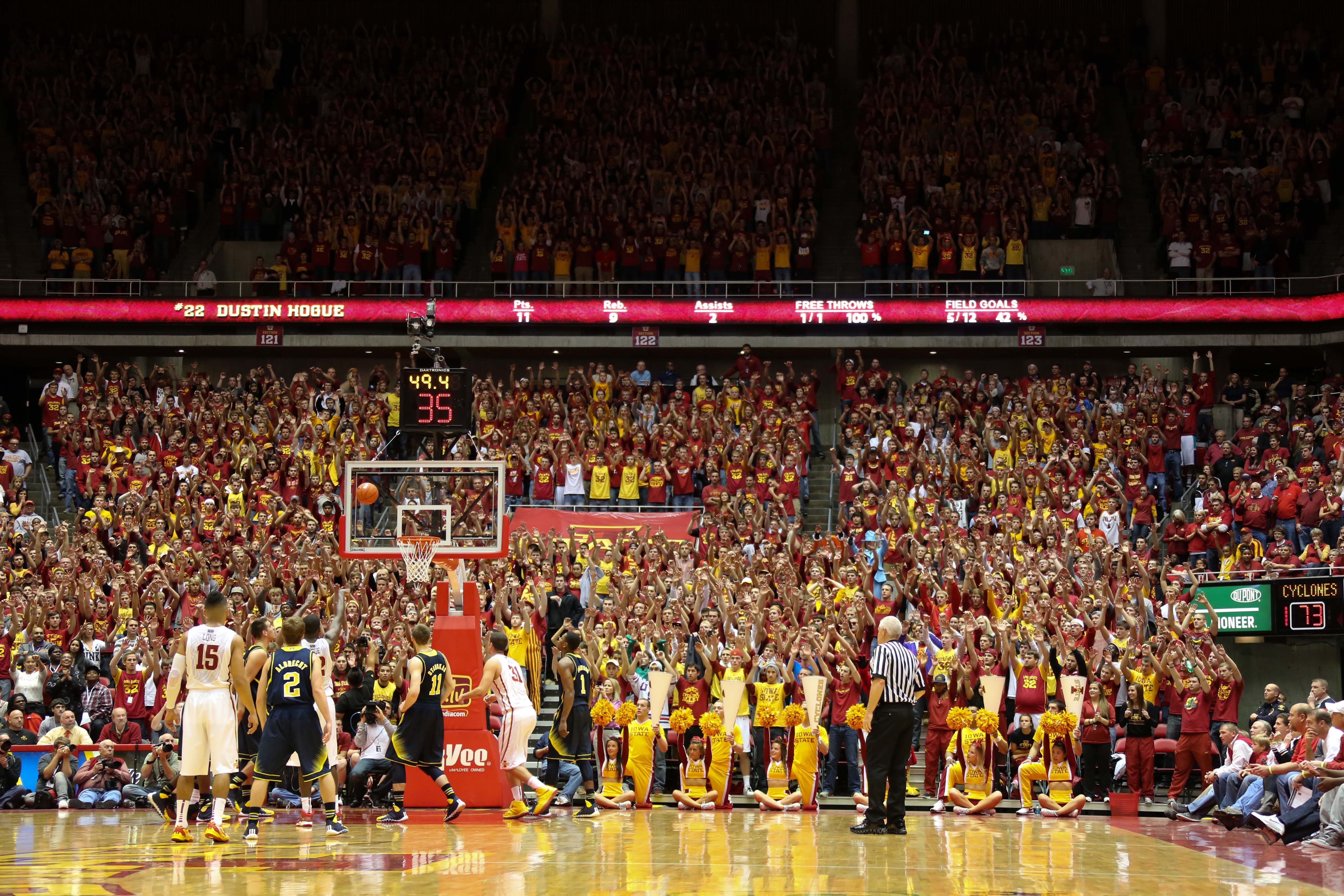 Iowa State 77, Michigan 70-27