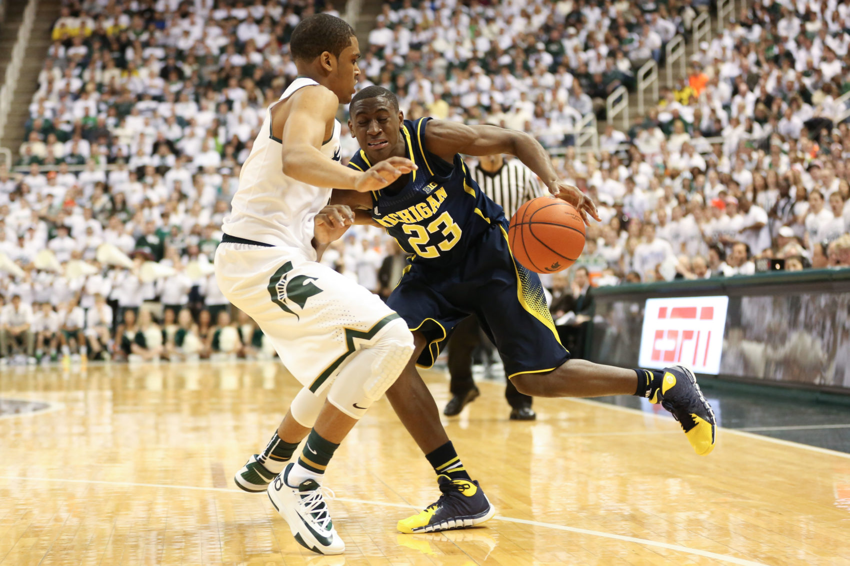 Michigan 80, Michigan State 75-19