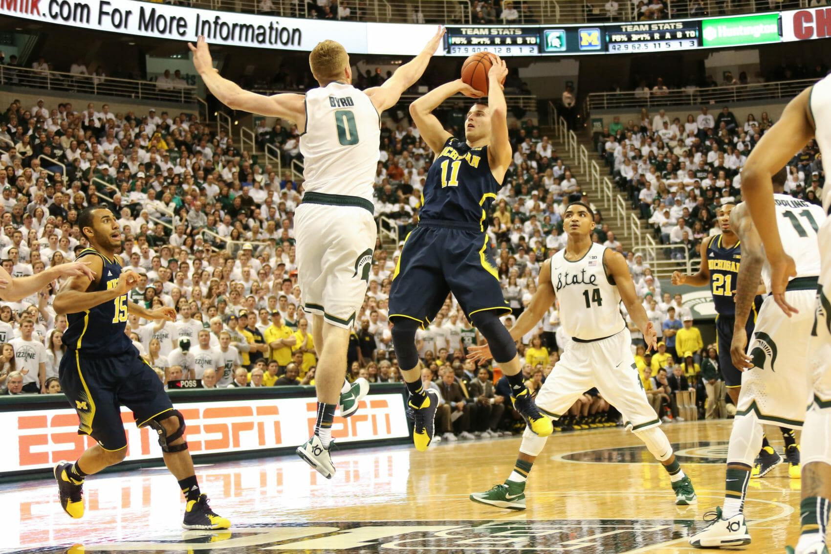 Michigan 80, Michigan State 75-9