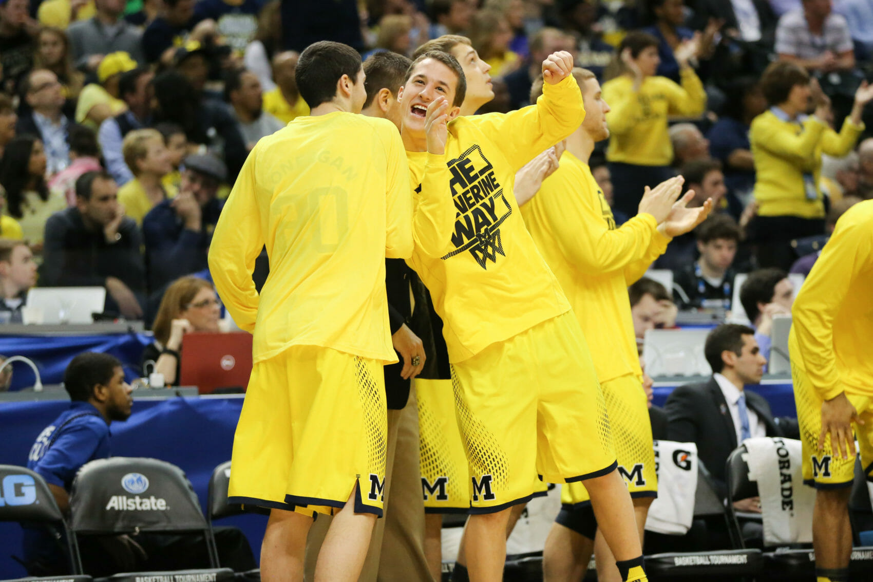 Michigan bench mob-13