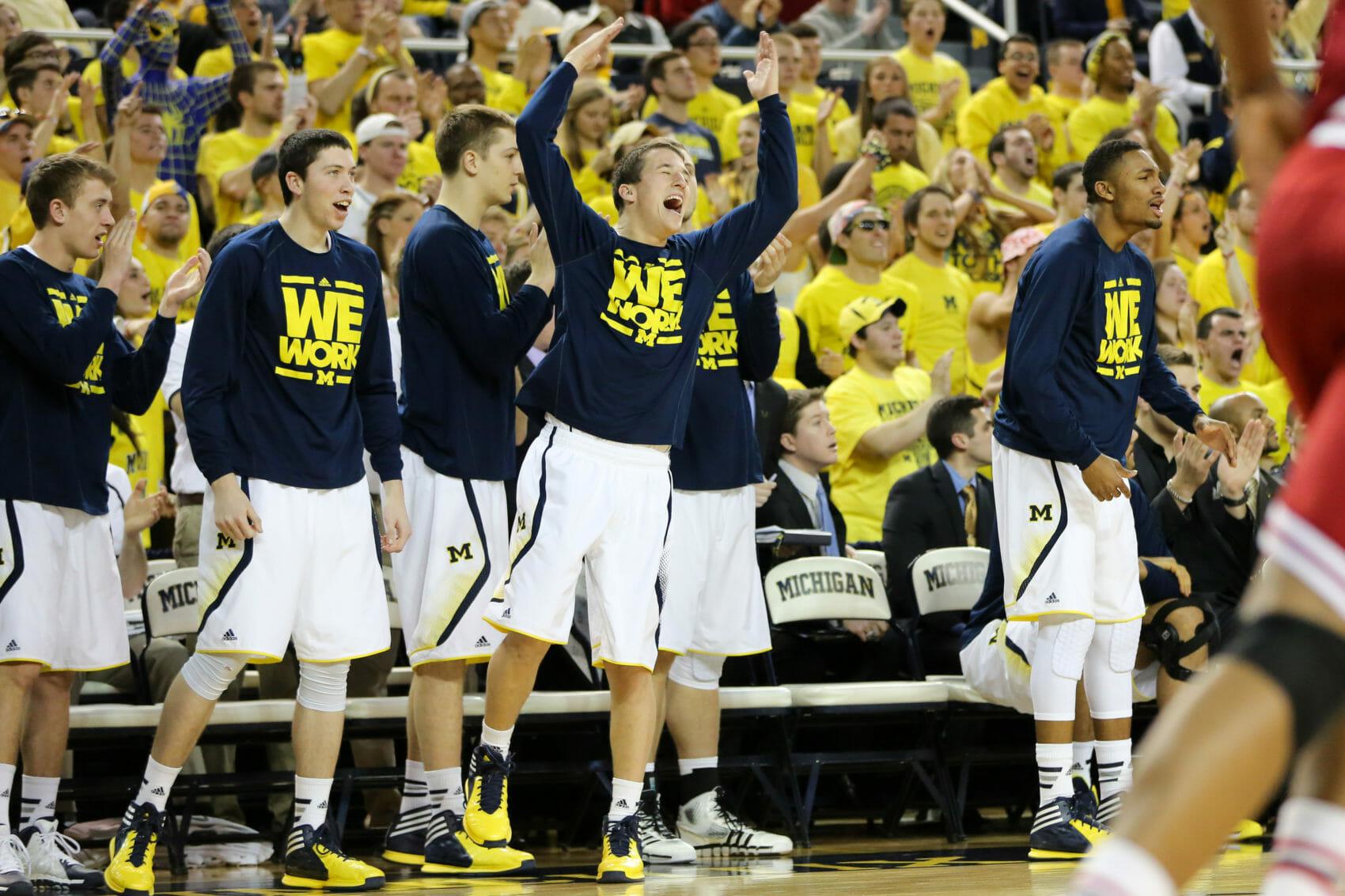 Michigan bench mob-6