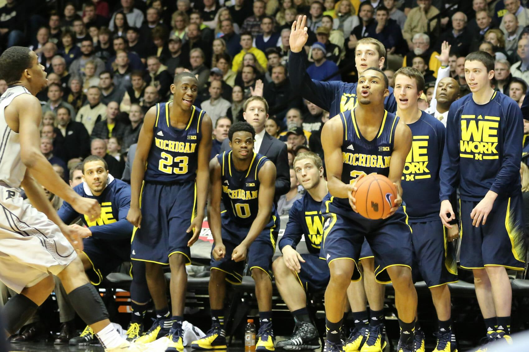Michigan bench mob-2