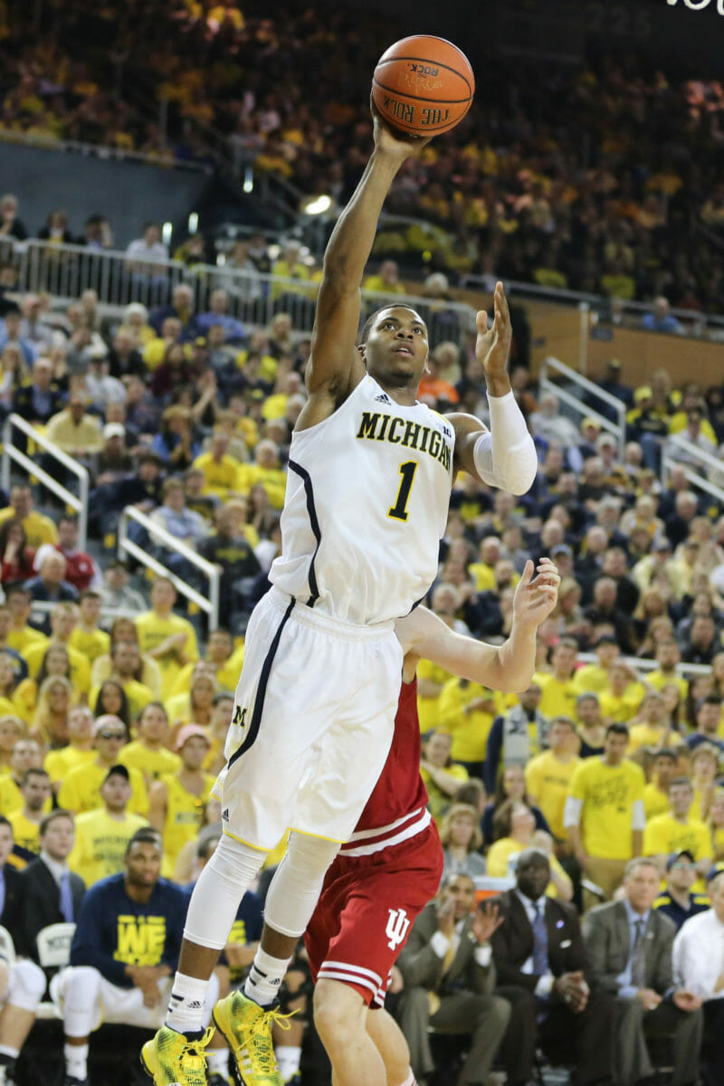 Michigan 84, Indiana 80-19