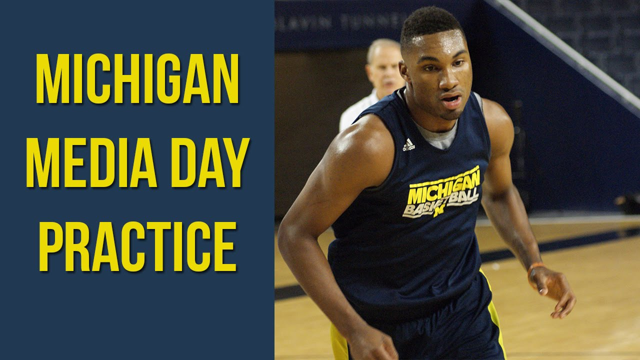 Michigan Media Day Practice