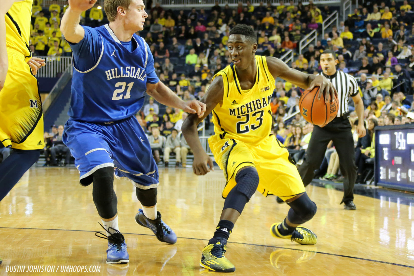 Michigan 92, Hillsdale 68-29