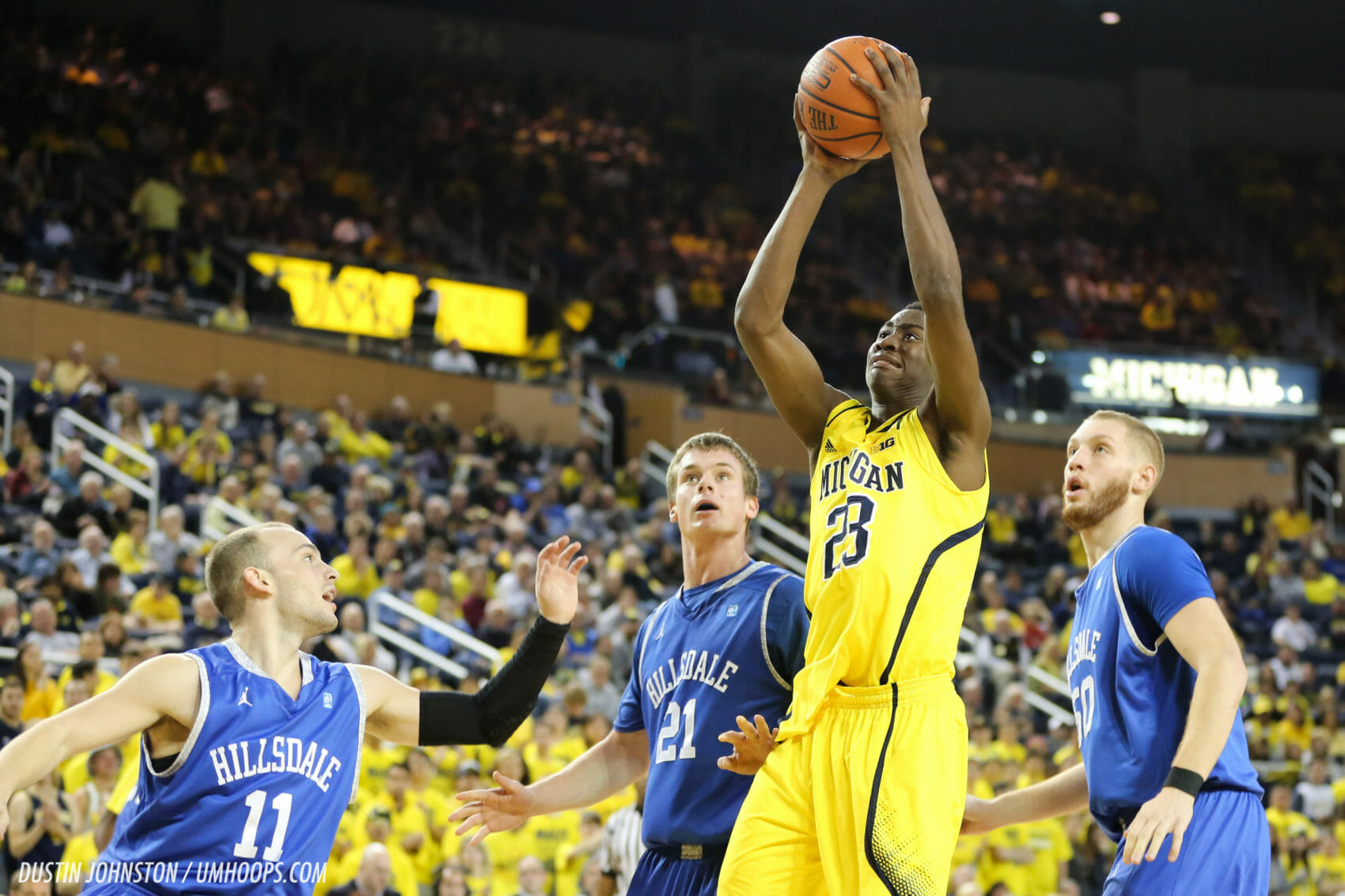 Michigan 92, Hillsdale 68-24