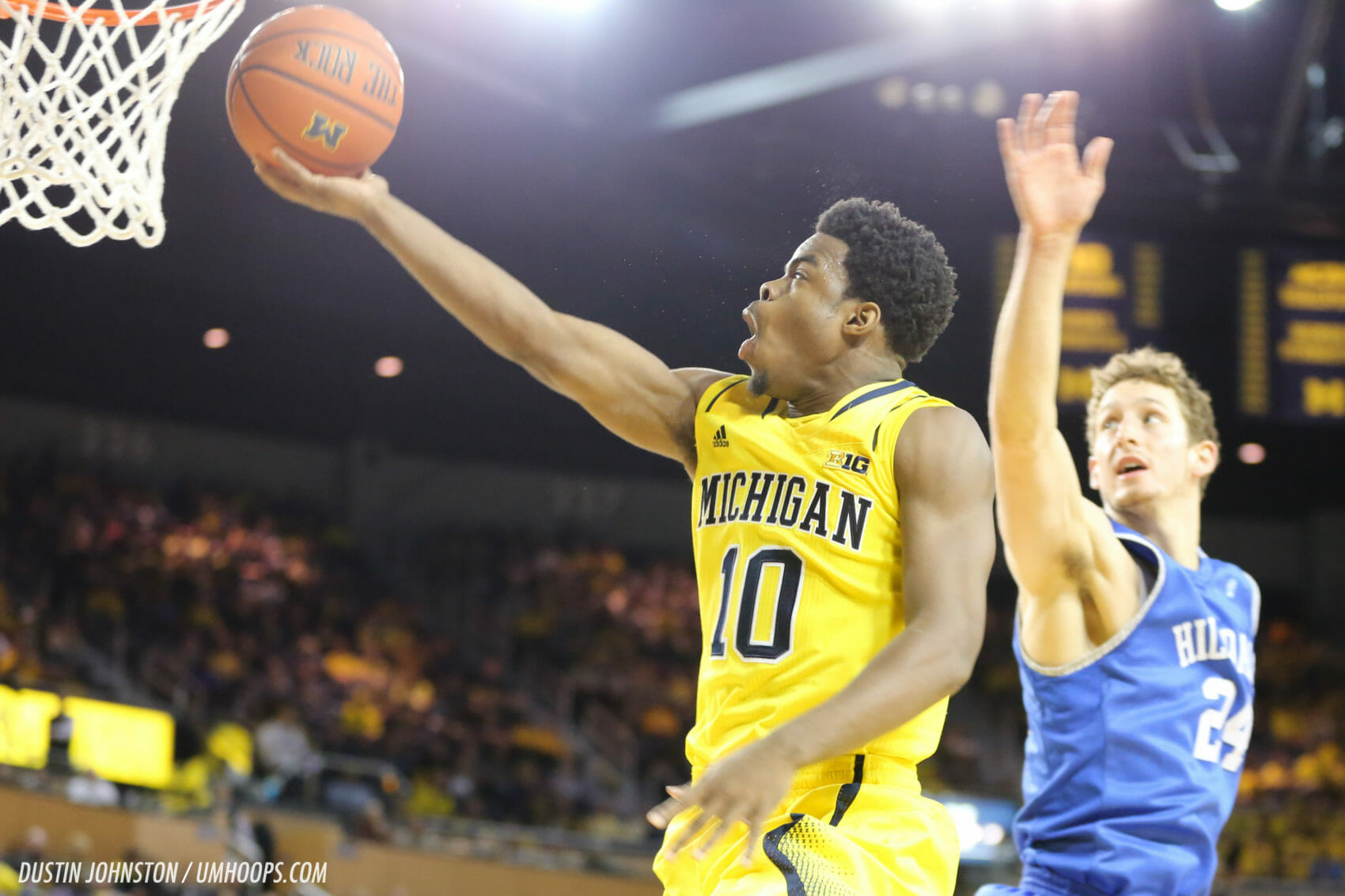 Michigan 92, Hillsdale 68-23