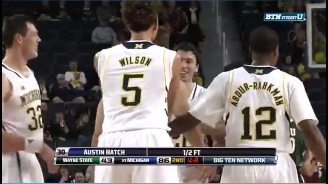 Austin Hatch makes first free throw at Michigan