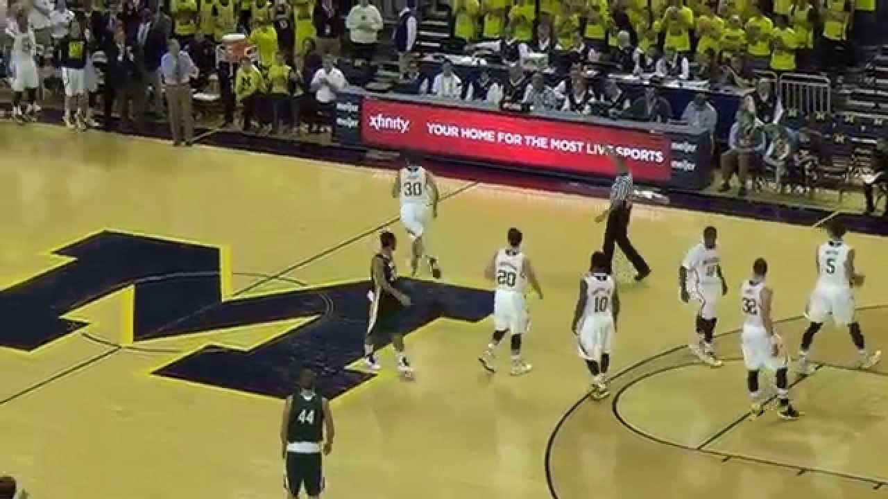Video: Austin Hatch scores first point at Michigan