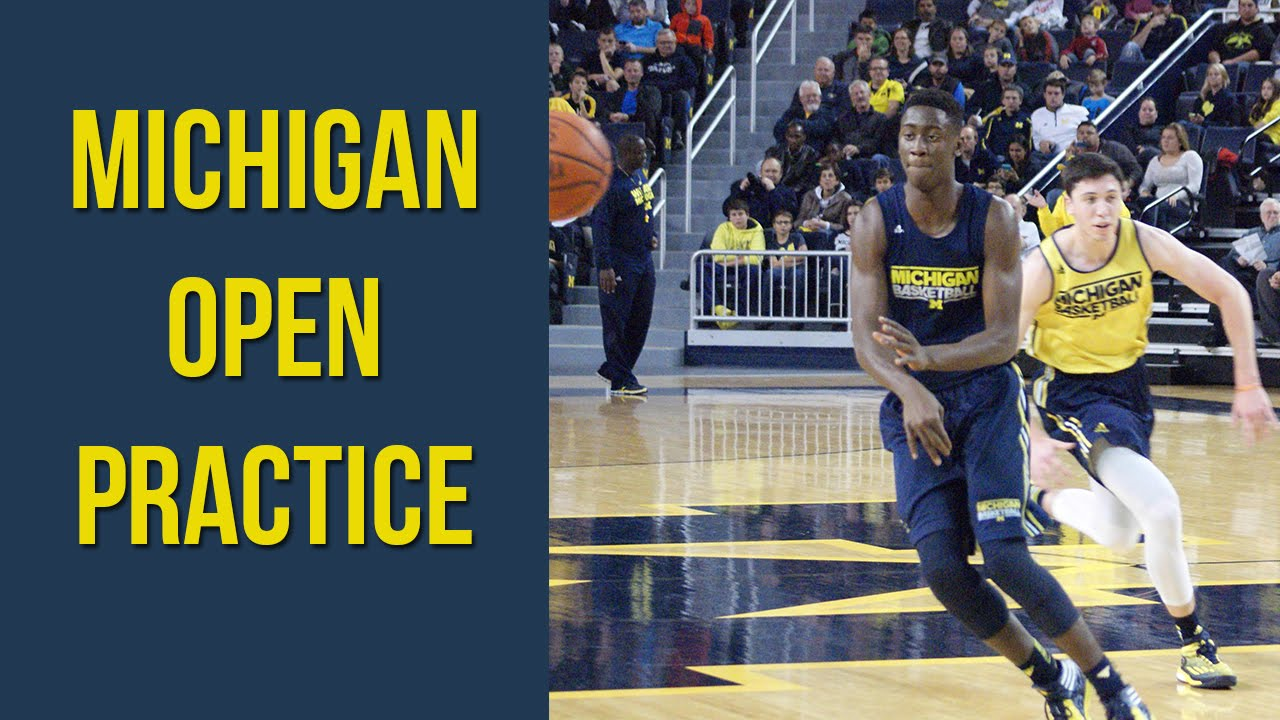 Michigan Basketball Open Practice 2014 15