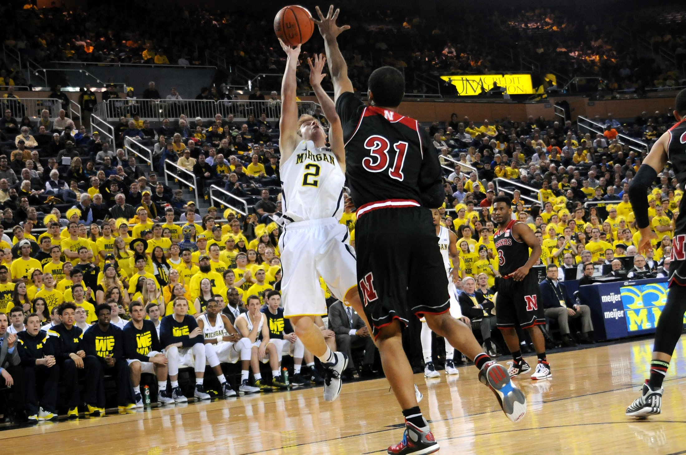 Michigan 58, Nebraska 44 – #18