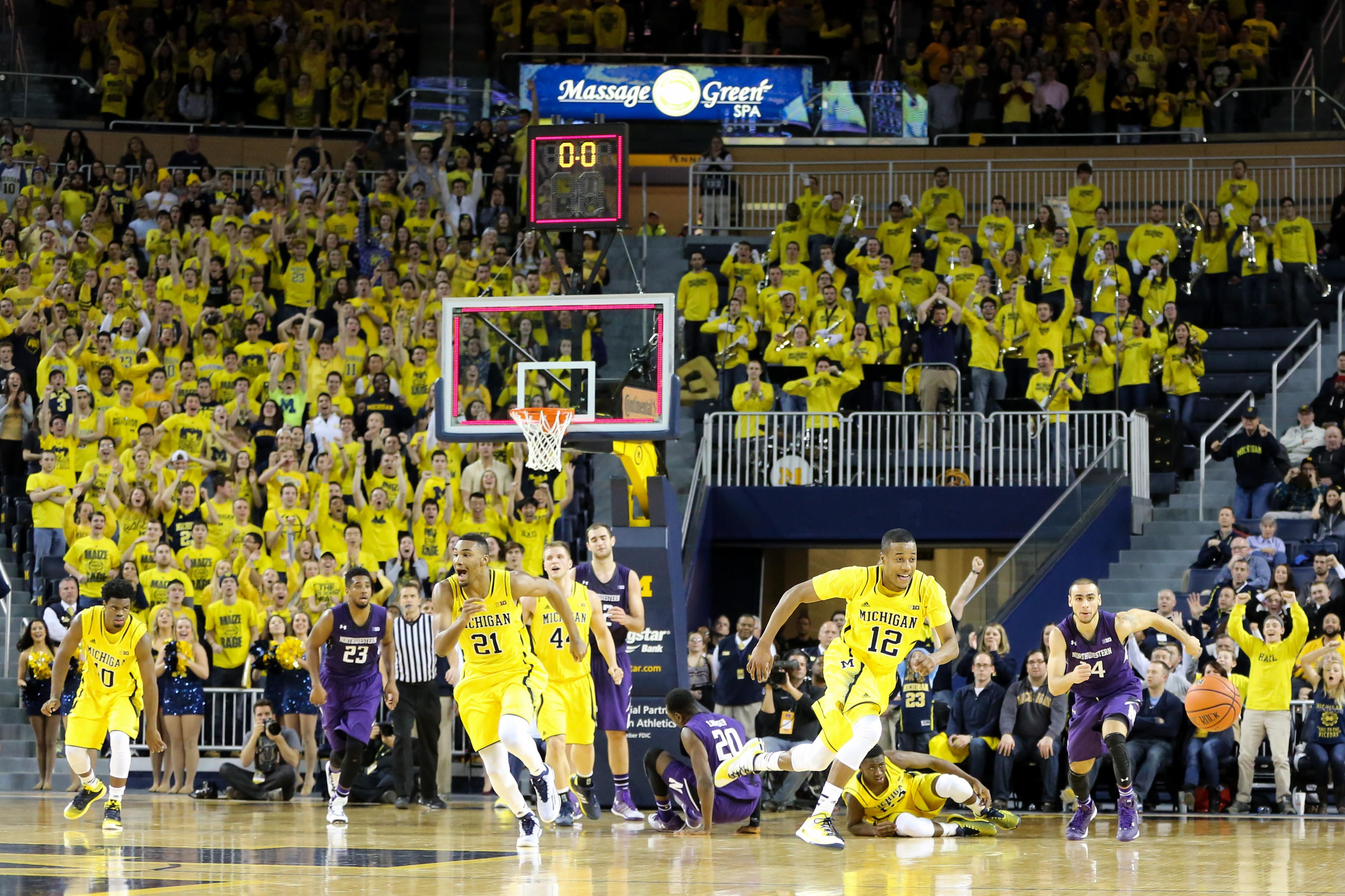 Michigan 56, Northwestern 54-29