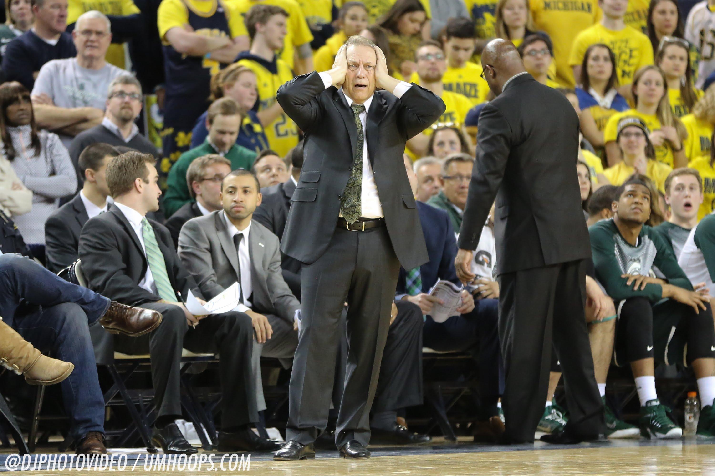 Tom Izzo talks win over Michigan at Crisler Center