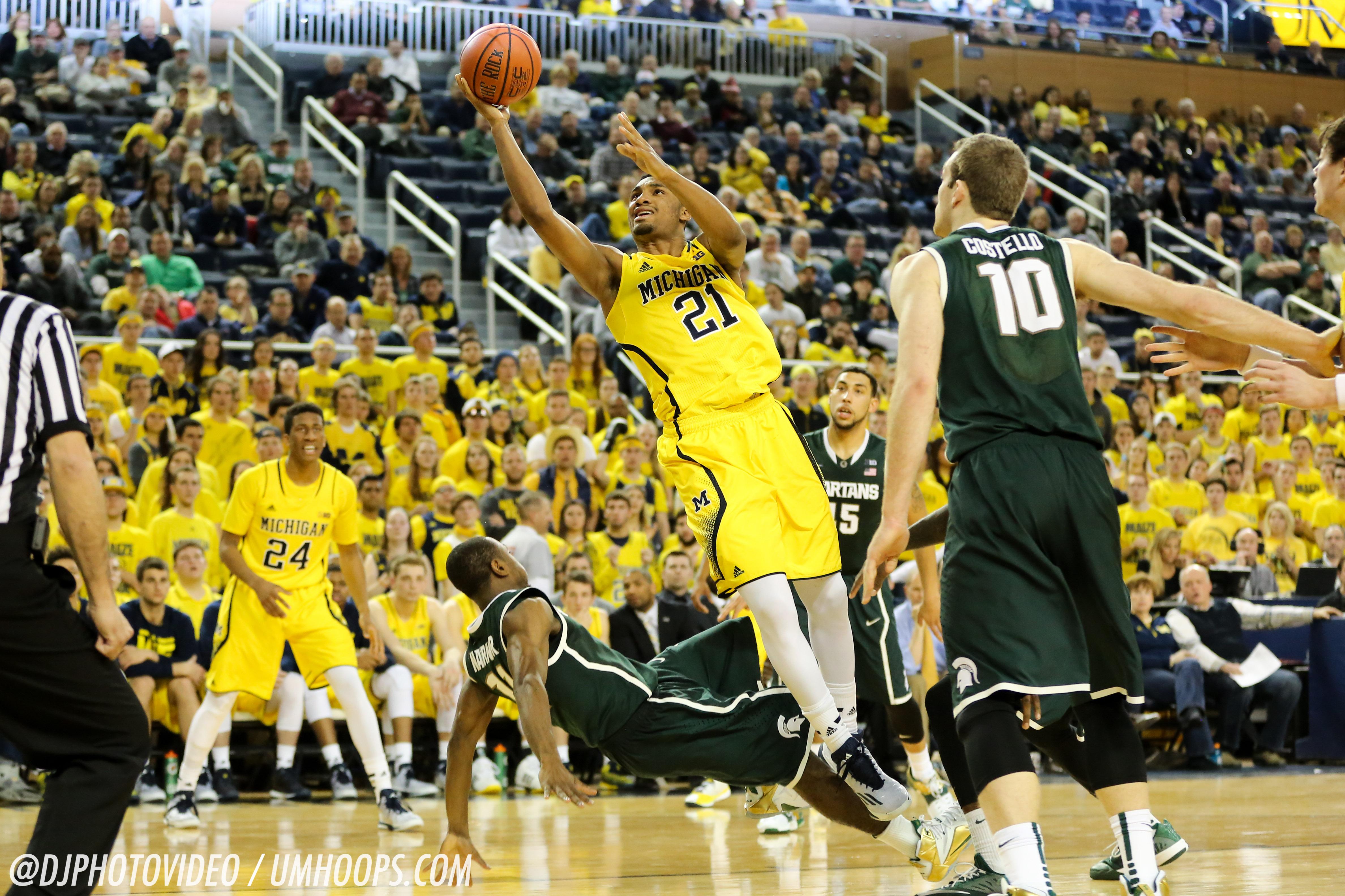 Michigan State 80, Michigan 67-23