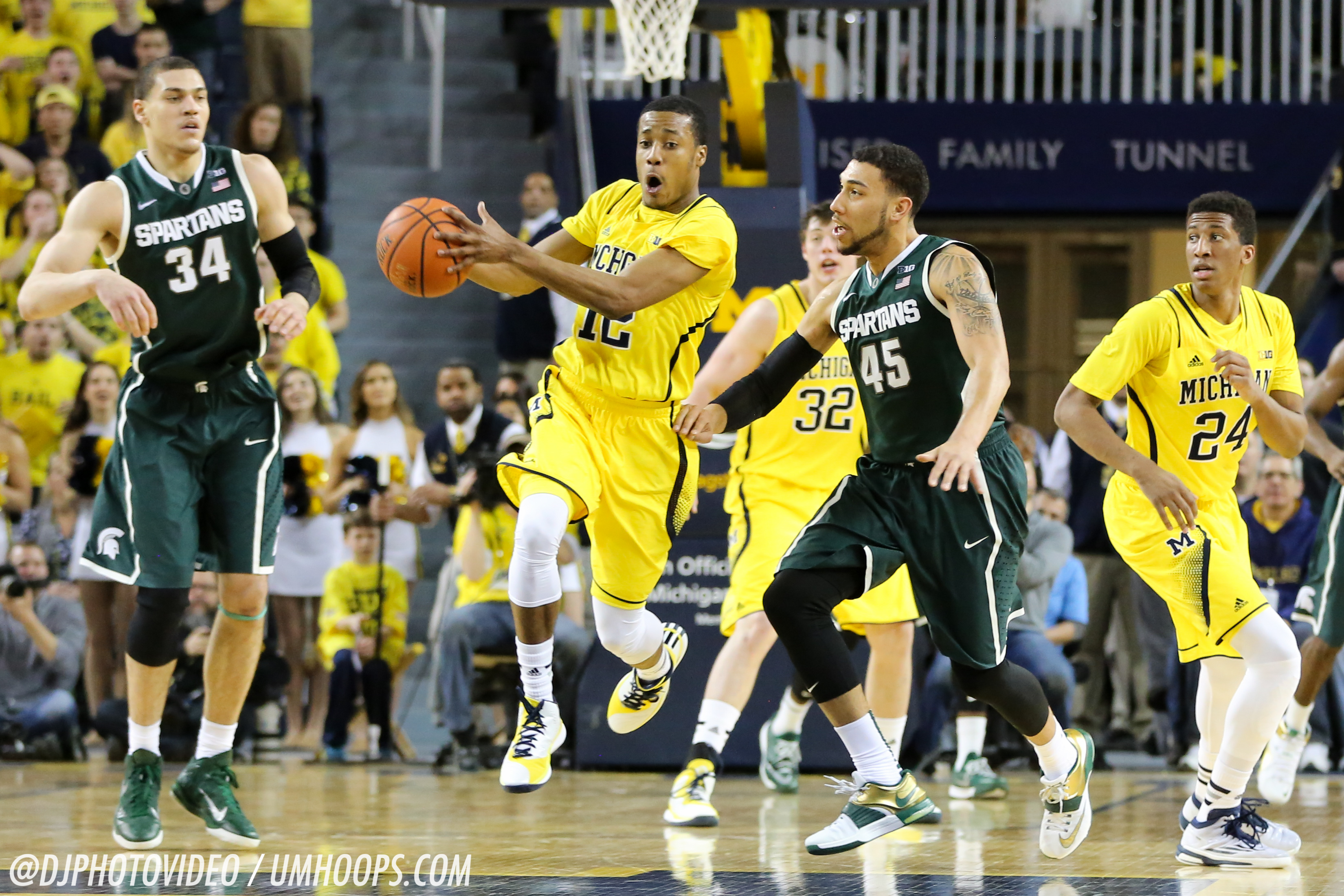Michigan State 80, Michigan 67-11