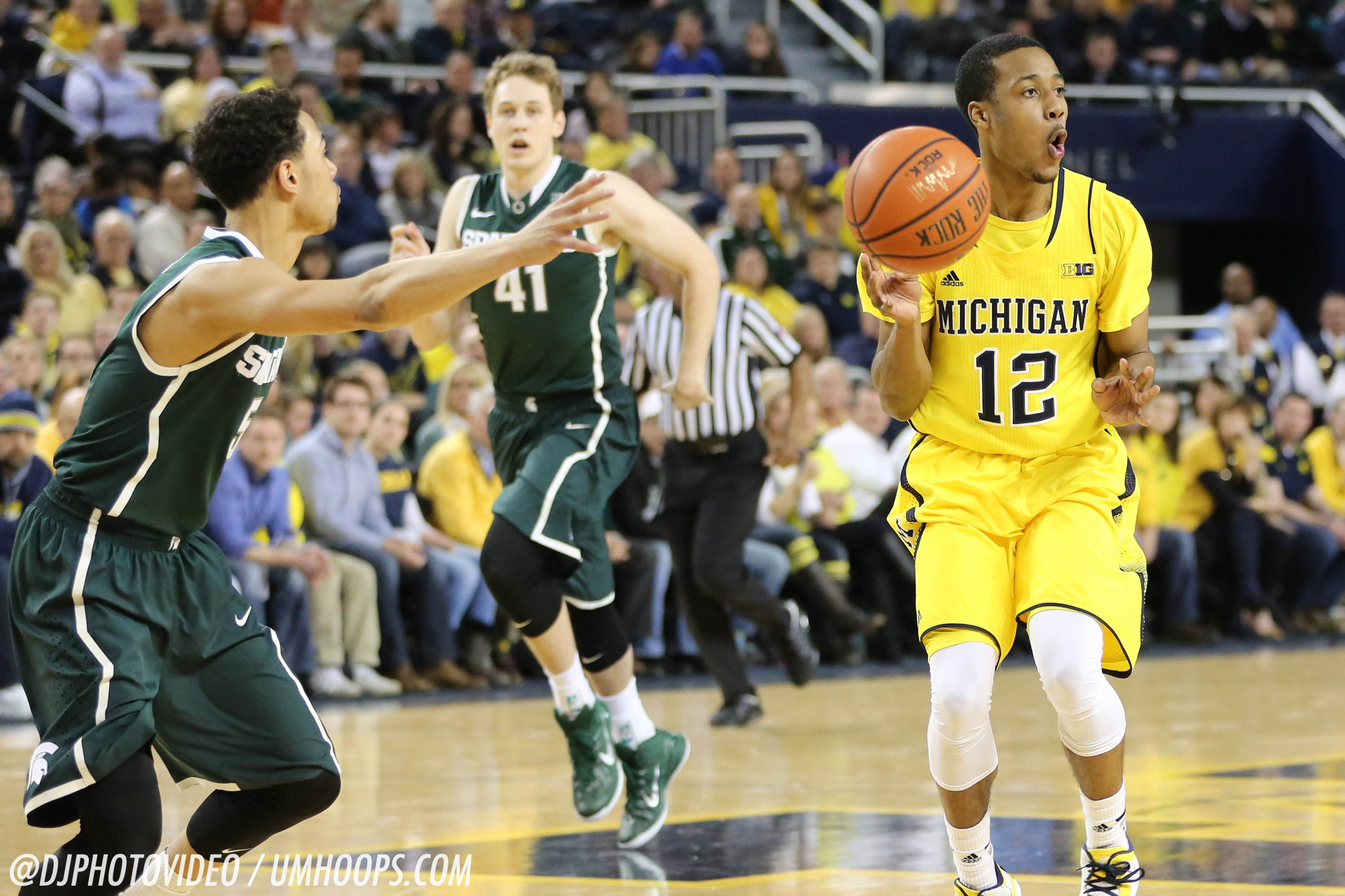 Michigan State 80, Michigan 67-7