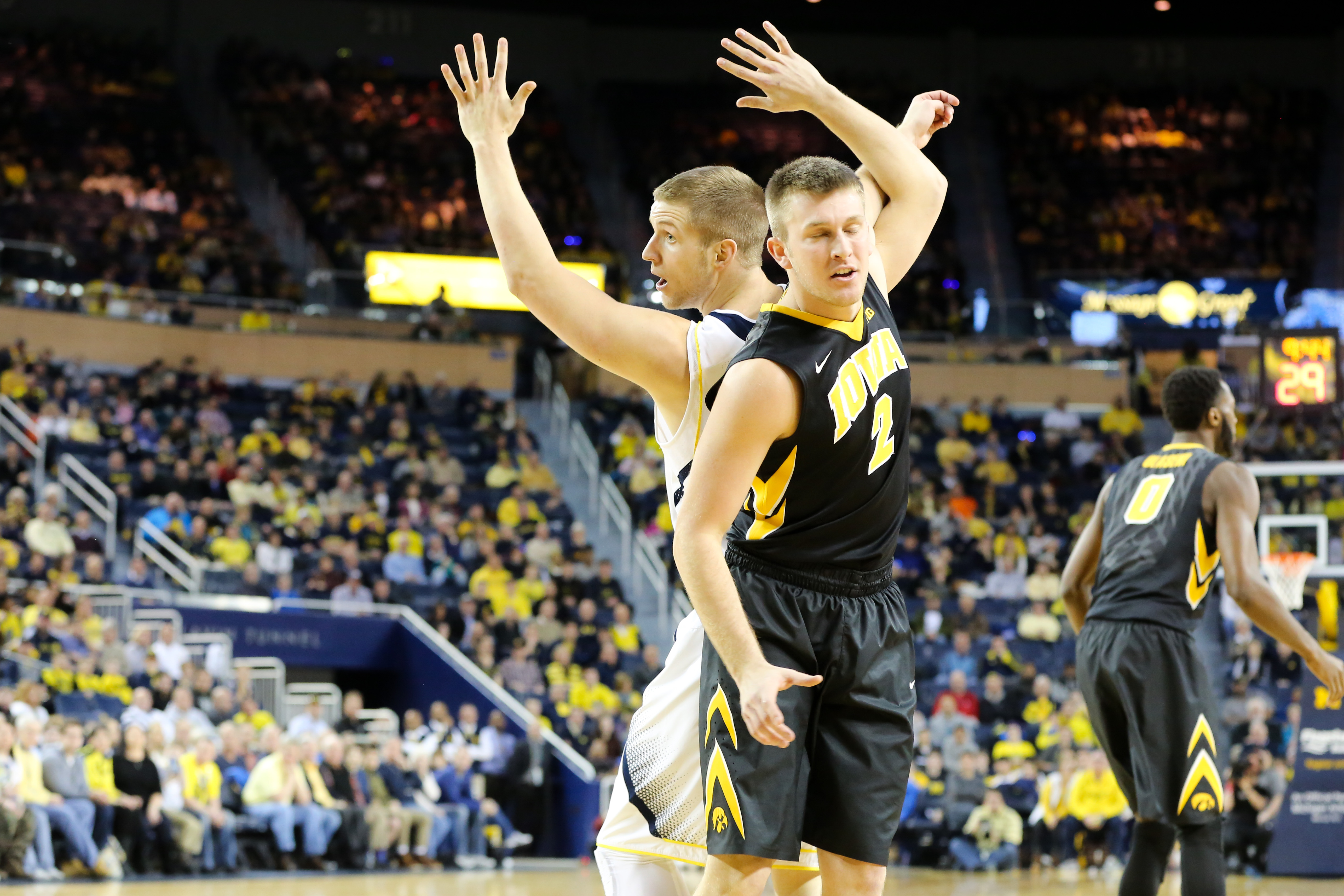 Michigan 54, Iowa 72-9