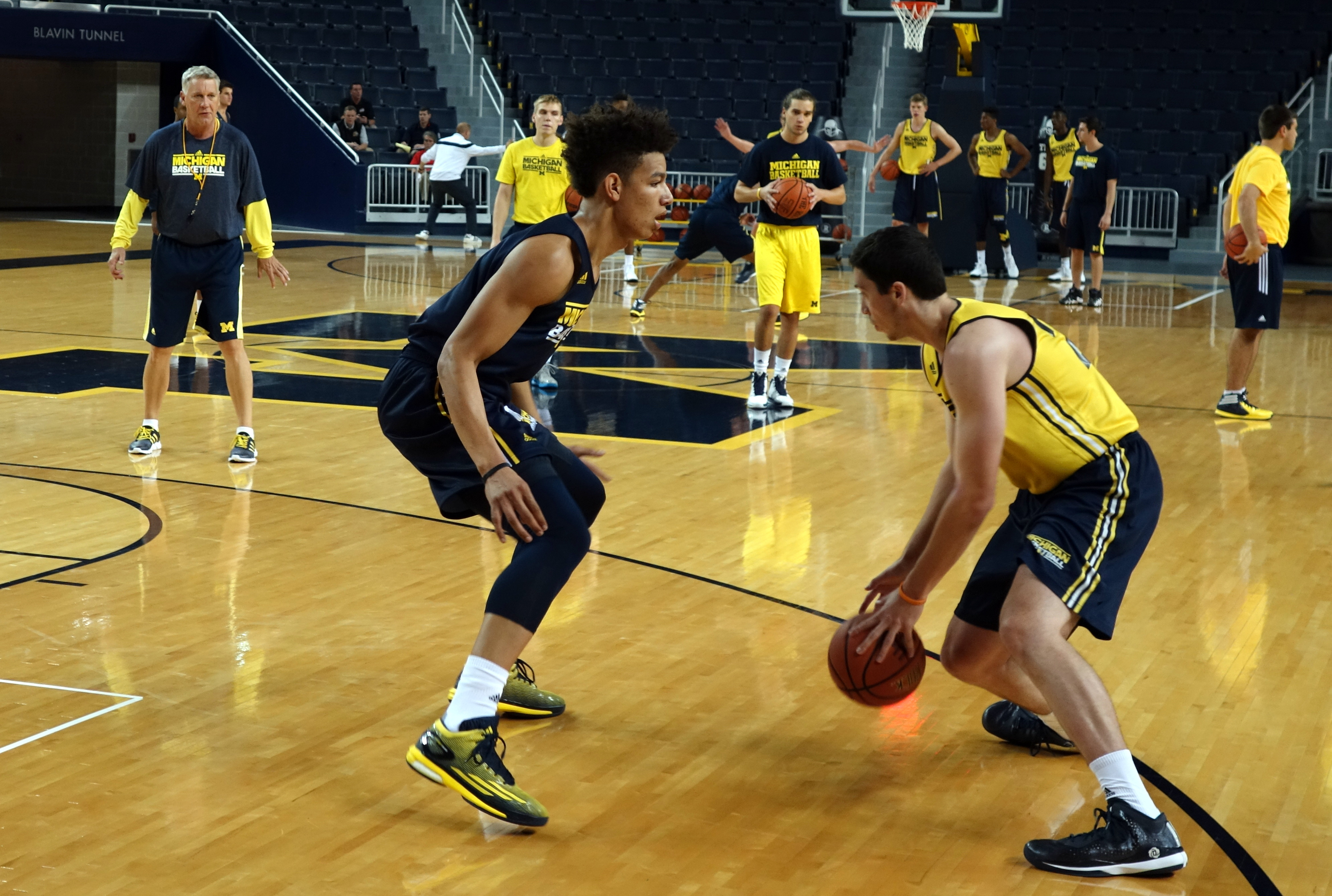 Michigan First Practice 2015-16 – #10