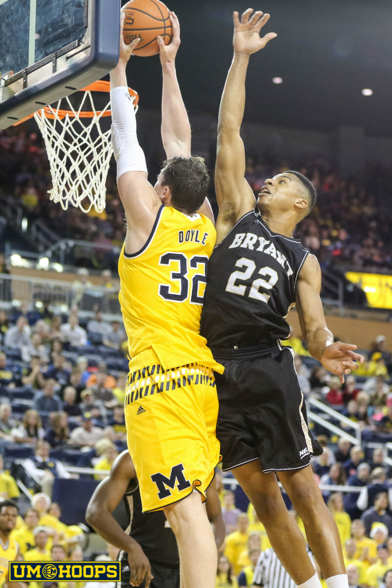Michigan 96, Bryant 60-18