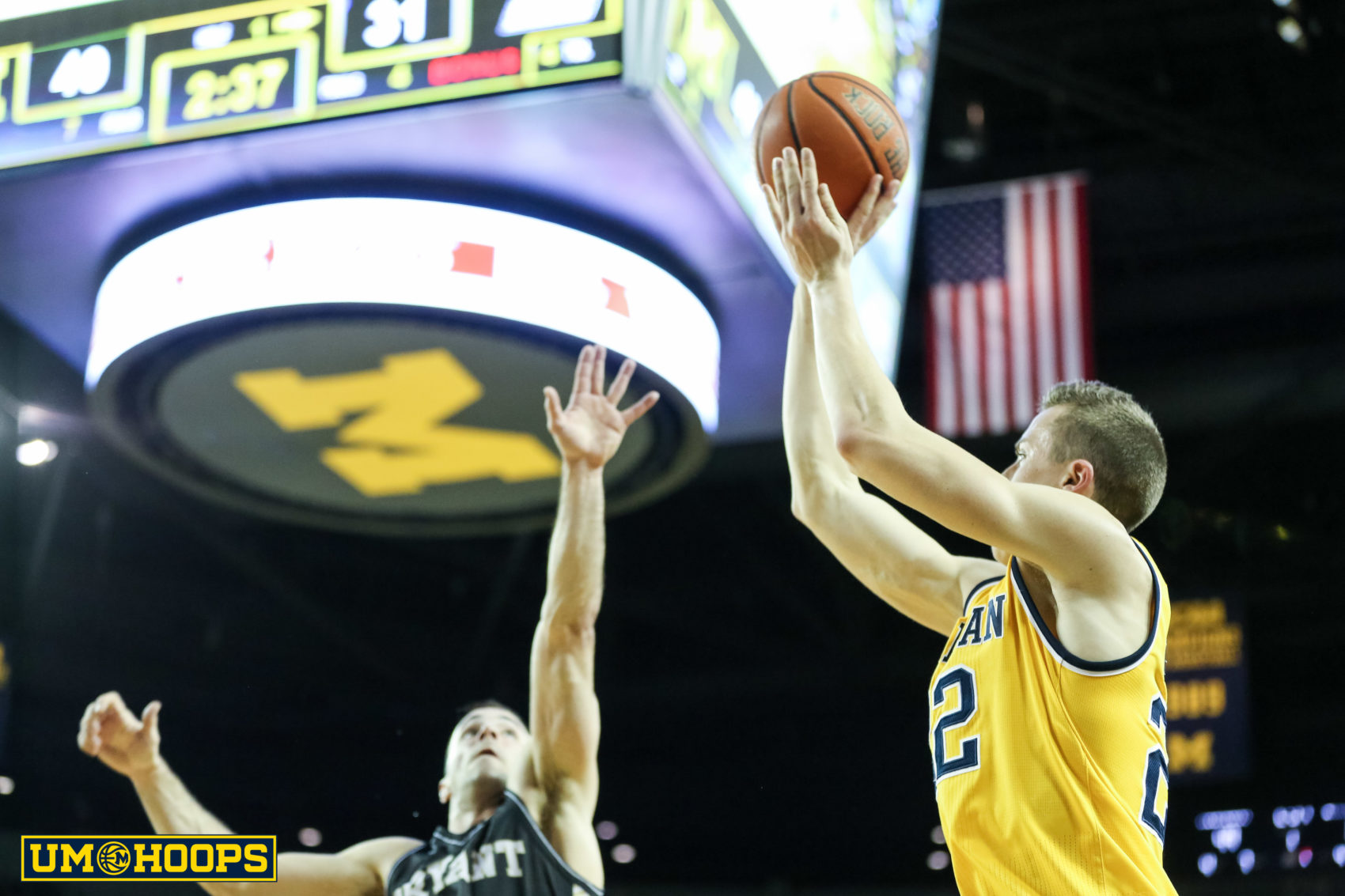 Michigan 96, Bryant 60-15