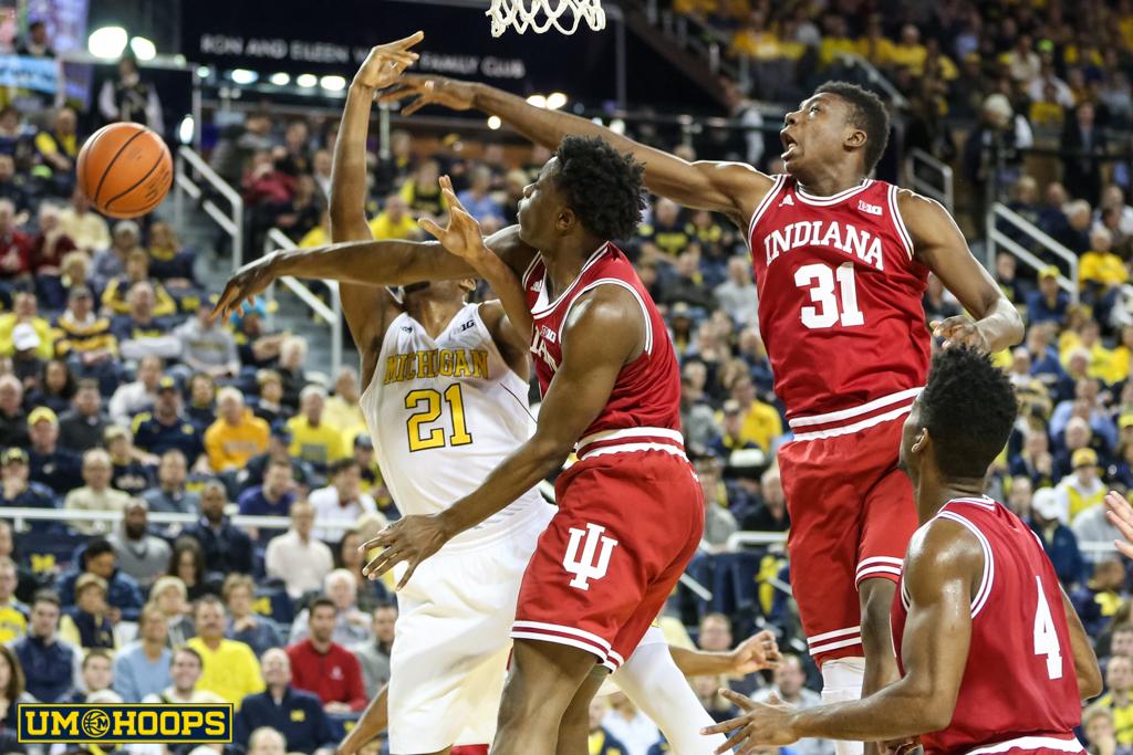 Indiana 80, Michigan 67-11