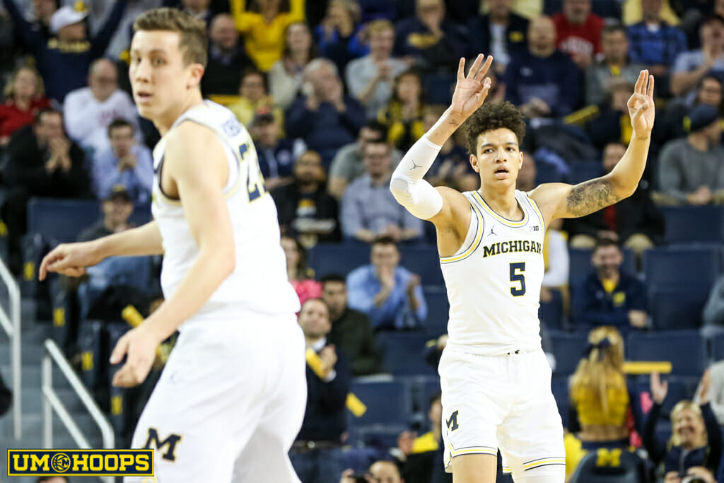 Michigan 90, Indiana 60-15