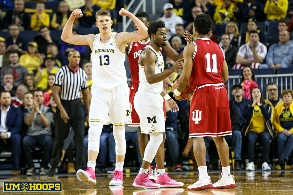 Michigan 90, Indiana 60-3